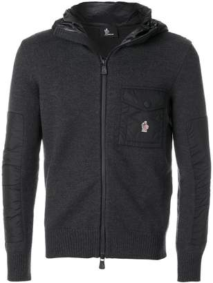 Moncler hooded zip cardigan