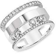 Messika Women's Move Romane Diamond Pavé & 18K White Gold Ring