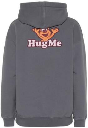 Vetements Cotton-blend hoodie with applique