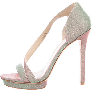 B Brian Atwood Metallic Consort Sandals $70 thestylecure.com