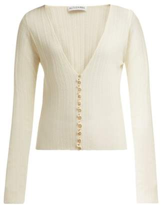Altuzarra Piazza Wool Blend Cardigan - Womens - Ivory