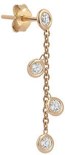 Kismet by Milka 14k Rose Gold 4-Diamond Chain Earring (Single)