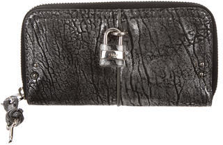 Chloé Chloé Leather Logo Lock Wallet