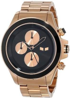 Vestal Unisex ZR2017 ZR-2 Minimalist Rose Gold Black Watch