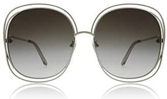 Chloé CE126S 733 / Green Carlina Square Sunglasses Lens Category 3 Size 62
