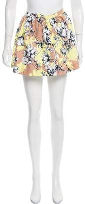 Torn By Ronny Kobo Floral Mini Skirt w/ Tags