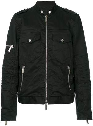 DSQUARED2 multi pockets zip up jacket