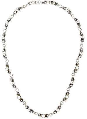 Lagos Pearl Glacier Link Chain Necklace