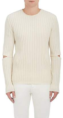 Helmut Lang RE-EDITION Men's Cutout-Elbow Wool Sweater