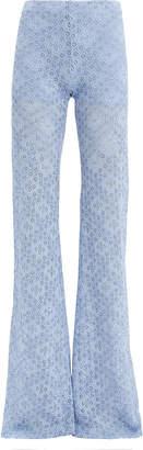 Nightcap Clothing Diamond Lace Bell Light Blue Pants
