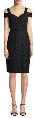 Eliza J Cold Shoulder Slim Dress