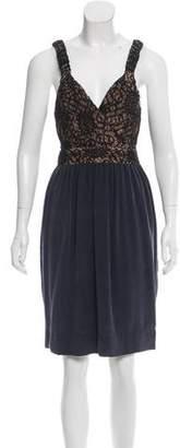Vena Cava Lace-Accented Knee-Length Dress