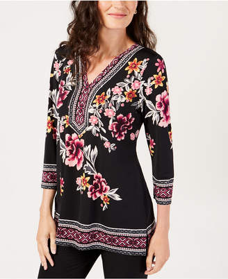 JM Collection Embellished Tunic, Created for Macy's
