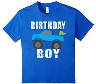 Birthday Boy Monster Truck Shirt For Boys Birthday Party