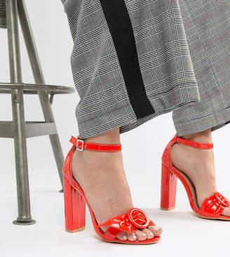 df0c86db65f6 Red Block Heel Sandals - ShopStyle UK