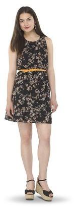 Junior's Printed Easy Waist Dress