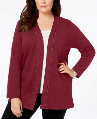 Womens Plus Size Cotton Cardigan Sweaters Shopstyle Australia