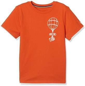 Giordano (ジョルダーノ) - (ジョルダーノ) GIORDANO 刺繍TEE GD18SM-03028206 061 オレンジ 130