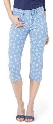 NYDJ Seastar Print Stretch Crop Jeans