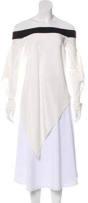 Roland Mouret Silk Long Sleeve Tunic
