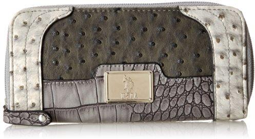 U.S. Polo Assn. Mix N Match Double Zip Around Wallet Checkbook Case
