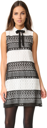 alice + olivia Hilly Collared Flare Dress with Bow $395 thestylecure.com