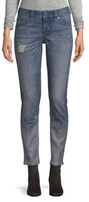 Miss Me Fleck Mid-Rise Skinny Fit Jeans