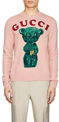 Gucci Men's Bear-Knit Wool Sweater