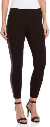 For The Republic Petite Faux Leather Stripe Leggings