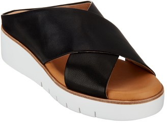 Corso Como Leather Cross-Strap Sandals - Brunna