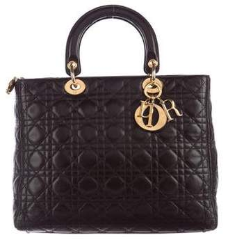 Christian Dior Large Lady Dior Bag $1,695 thestylecure.com