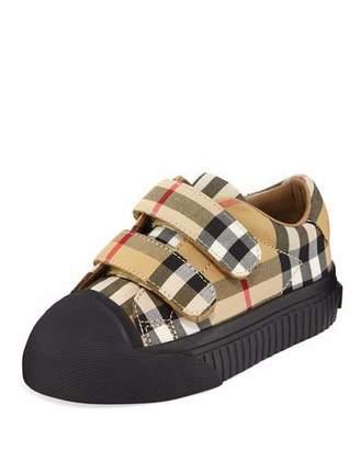 Burberry Belside Vintage Check Sneakers, Toddler