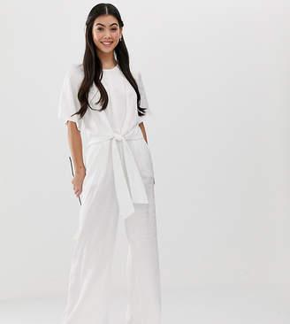 Y.A.S Petite Bridal jacquard jumpsuit
