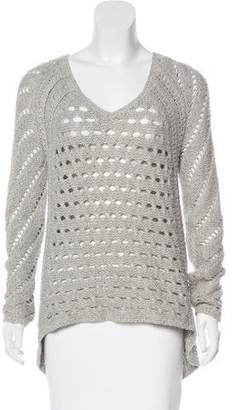 Helmut Lang Open Knit V-Neck Sweater