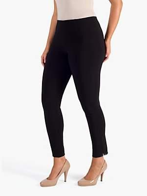 Chesca Slit Seam Detail Trousers, Black