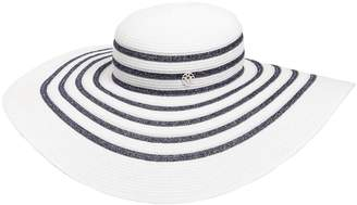 Maison Michel Bianca Striped Shiny Straw Hat