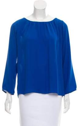 By Malene Birger Long Sleeve Cutout-Accented Top