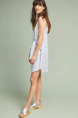 Three Dots Linen Tie-Waist Petite Dress