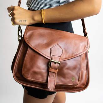 b425be6fccb5ec MAHI Leather Personalised Leather Classic Saddle Bag