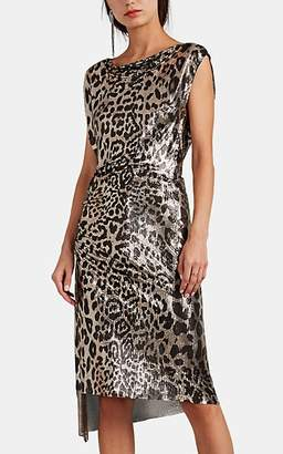 Paco Rabanne Women's Leopard-Print Metal Mesh Dress