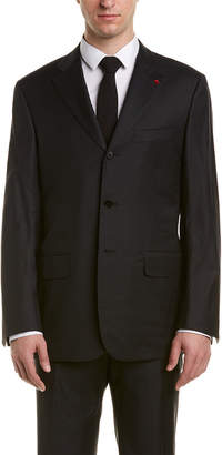 Isaia Wool Suit With Flat Front Pant