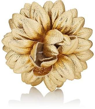 Dahlia Fleur'd Men's Lapel Flower - Gold