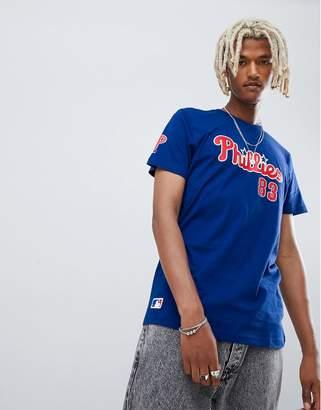 New Era MLB Philadelphia Phillies T-Shirt With Chest Logo In Blue