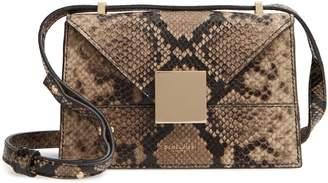 DeMellier Mini Copenhagen Snake Embossed Calfskin Leather Shoulder Bag