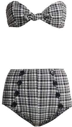 Poppy Gingham Check Bikini - Womens - Black White