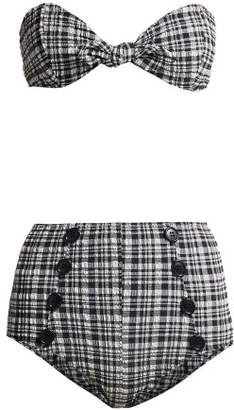 Lisa Marie Fernandez Poppy Gingham Check Bikini - Womens - Black White