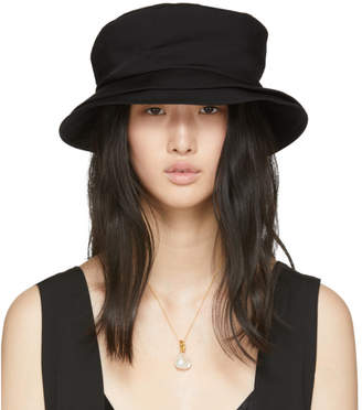 Y's Ys Black Wide Brim Hat