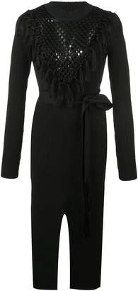 Yigal Azrouel Macrame Knit Dress