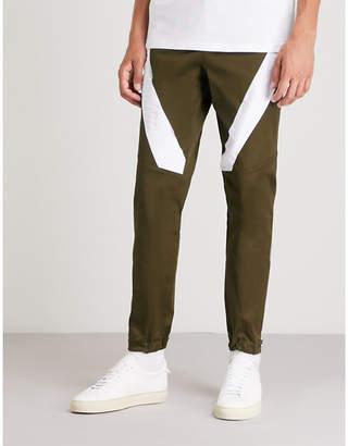 Versace Versus Contrast-panel woven trousers