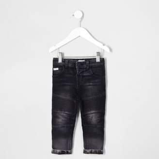 River Island Mini boys black Sid biker jeans